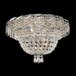 "Belenus Collection 8-Light 20"" Chrome Flush Mount with Clear  Swarovski Strass Crystal ECA2F20C/SS"
