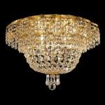"Belenus Collection 8-Light 20"" Gold Flush Mount with Clear  Swarovski Strass Crystal ECA2F20G/SS"