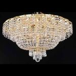 "Belenus Collection 10-Light 26"" Gold Flush Mount with Clear  Swarovski Strass Crystal ECA2F26G/SS"