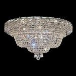"Belenus Collection 12-Light 30"" Chrome Flush Mount with Clear  Swarovski Strass Crystal ECA2F30C/SS"