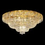 "Belenus Collection 12-Light 30"" Gold Flush Mount with Clear  Swarovski Strass Crystal ECA2F30G/SS"