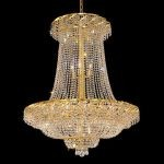 "Belenus Collection 22-Light 36"" Gold Chandelier with Clear  Swarovski Strass Crystal ECA2G36SG/SS"