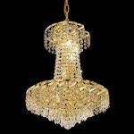"Belenus Collection 6-Light 18"" Gold Chandelier with Clear  Swarovski Strass Crystal ECA4D18G/SS"