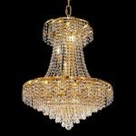 "Belenus Collection 11-Light 22"" Gold Chandelier with Clear  Swarovski Strass Crystal ECA4D22G/SS"