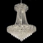 "Belenus Collection 15-Light 26"" Chrome Chandelier with Clear  Swarovski Strass Crystal ECA4D26C/SS"
