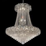 "Belenus Collection 18-Light 30"" Chrome Chandelier with Clear  Swarovski Strass Crystal ECA4D30C/SS"