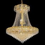"Belenus Collection 18-Light 30"" Gold Chandelier with Clear  Swarovski Strass Crystal ECA4D30G/SS"