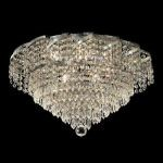 "Belenus Collection 8-Light 20"" Chrome Flush Mount with Clear Swarovski Spectra Crystal ECA4F20C/SA"