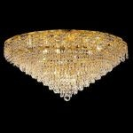 "Belenus Collection 12-Light 30"" Gold Flush Mount with Clear  Swarovski Strass Crystal ECA4F30G/SS"
