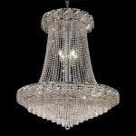 "Belenus Collection 22-Light 36"" Chrome Chandelier with Clear  Swarovski Strass Crystal ECA4G36SC/SS"