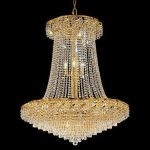 "Belenus Collection 22-Light 36"" Gold Chandelier with Clear  Swarovski Strass Crystal ECA4G36SG/SS"