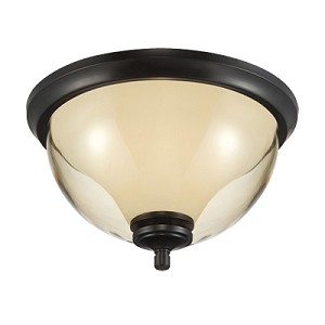 "Stockholm Collection 2-Light 13"" Oil Rubbed Bronze Outdoor Ceiling Fixture 31722-ORB"