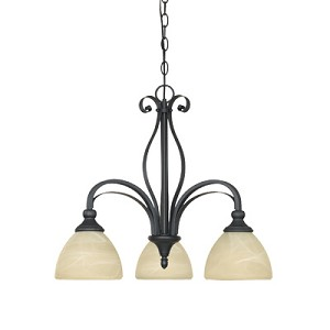 Del Amo Collection 3 Light Chandelier 82883-BNB