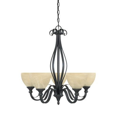 Del Amo Collection 5 Light Chandelier 82885-BNB