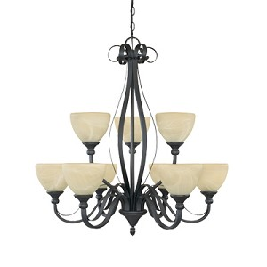 Del Amo Collection 9 Light Chandelier 82889-BNB