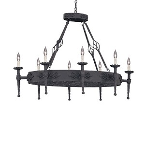 "Alhambra Collection 8-Light 42"" Natural Iron Island Fixture 9188-NI"