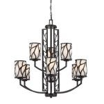 "Modesto Collection 9-Light 31"" Artisan Chandelier with White Opal Glass 83789-ART"