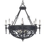 "Alhambra Collection 14-Light 40"" Natural Iron Chandelier 9189-NI"