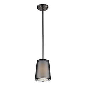 "Crystals Collection Black Chrome 1-Light 8"" Pendant 10311/1"