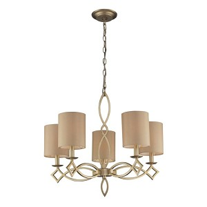 "Estonia Collection Aged Silver 5-Light 25"" Chandelier 31127/5"