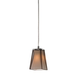 "Cubico Collection Satin Nickel 1-Light 5"" Pendant 31143/1"