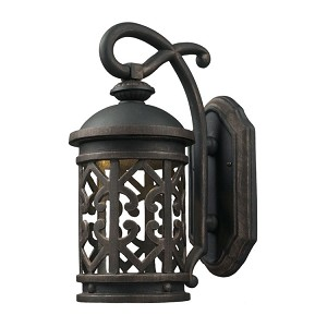"Tuscany Coast Collection 1-Light 14"" Weathered Charcoal LED Dark Sky Outdoor Wall Lantern 42360/1"