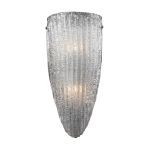 "Luminese Collection Satin Nickel 2-Light 7"" Wall Sconce 10270/2"
