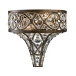 "Amherst Collection 2-Light 11"" Antique Bronze Crystal Wall Sconce 11284/2"