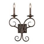 Gloucester Collection 2-Light 18 Weathered Bronze Wall Sconce 15040/2