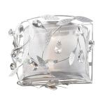 "Circeo Collection 2-Light 11"" Antique White Floral Wall Sconce with Crystal 18120/2"