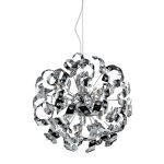 "Odyssey 13-Light 22"" Polished Chrome 32% Lead Crystal Pendant Chandelier 30006/13"