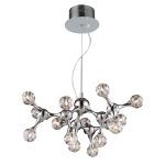 Molecular Collection Polished Chrome 15-Light Chandelier 30025/15