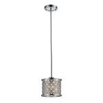 "Genevieve Collection Polished Chrome 1-Light 6"" Pendant 31102/1"