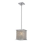 "Genevieve Collection Polished Chrome 1-Light 9"" Pendant 31103/1"
