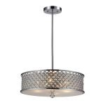 "Genevieve Collection Polished Chrome 4-Light 8"" Pendant 31105/4"