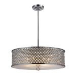 "Genevieve Collection Polished Chrome 6-Light 11"" Pendant 31106/6"