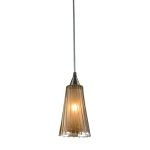 "Encapsulate Collection Satin Nickel 1-Light 8"" Pendant 31148/1"