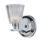 "Calais Collection Polished Chrome 1-Light 6"" Bathroom Vanity Light 31162/1"