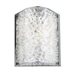 "Encased Crystals Collection Polished Chrome 1-Light 7"" Bathroom Vanity Light 31180/1"