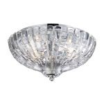 "Crystal Collection Polished Chrome 2-Light 12"" Flushmount 31240/2"