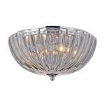 "Crystal Collection Polished Chrome 2-Light 12"" Flushmount 31241/2"