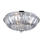 "Crystal Collection Polished Chrome 3-Light 16"" Flushmount 31242/3"