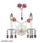 "Mary-Kate and Ashley Rosavita Series 5-Light 21"" Antique White Crystal Mini Chandelier 4050/2"