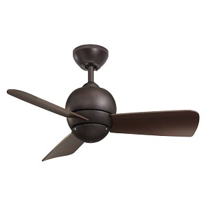 "Tilo Collection 30"" Oil Rubbed Bronze Ceiling Fan with Dark Cherry Blades CF130ORB"