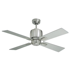 "Veloce Collection 46"" Brushed Steel Ceiling Fan with Brushed Steel Blades CF230BS"
