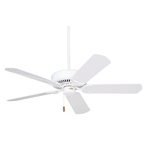 "Designer Collection 52"" Appliance White Ceiling Fan with Appliance White/Bleached Oak Blades CF755WW"