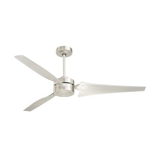 "Loft Collection 60"" Brushed Steel Ceiling Fan with Brushed Steel Blades CF765BS"