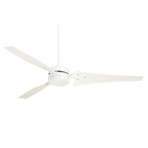 "Loft Collection 60"" Appliance White Ceiling Fan with Appliance White Blades CF765WW"