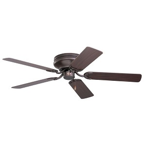 "Snugger Collection 42"" Oil Rubbed Bronze Ceiling Fan with Dark Cherry/Medium Oak Blades CF804SORB"