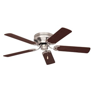 "Snugger Collection 52"" Brushed Steel Ceiling Fan with Dark Cherry/Mahogany Blades CF805SBS"